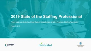 2019 State of the Staffing Professional