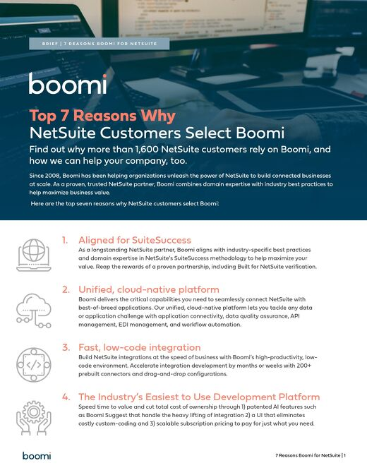 Top 7 Reasons Why NetSuite Customers Select Boomi
