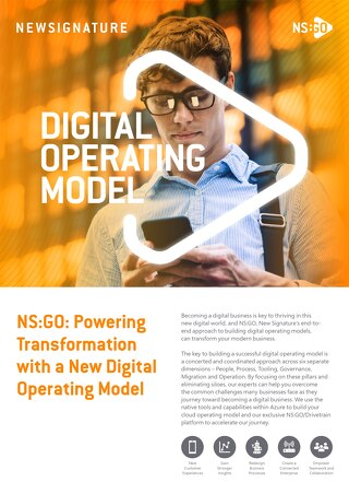 NS: GO - Digital Operating Model - Flyer