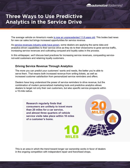 3 Ways to Use Predictive Analytics in the Service Drive