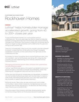 Customer Case Study: Rockhaven Homes