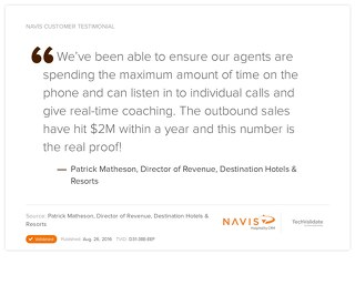 Testimonial from Patrick Matheson, Director of Revenue at Destination Hotels & Resorts