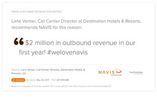 Testimonial from Lana Venter, Call Center Director at Destination Hotels & Resorts