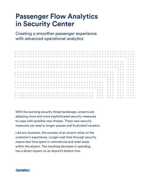 Security Center Passenger Analytics Brochure