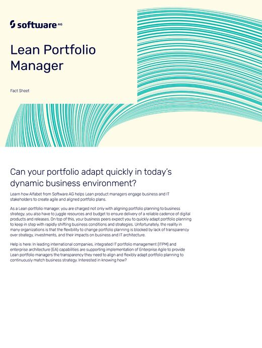 Alfabet and the Lean Portfolio Manager
