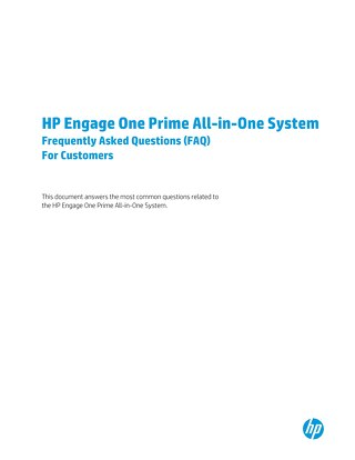 HP Engage One Prime All-in One System