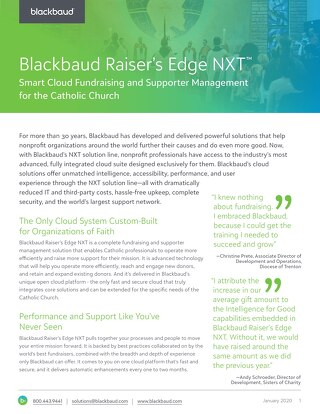 Raiser's Edge NXT for Catholic Churches