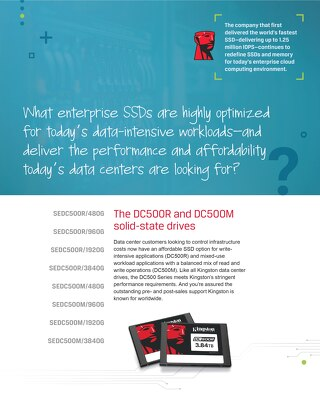 Kingston DC500R and DC500M Solid-State Drives