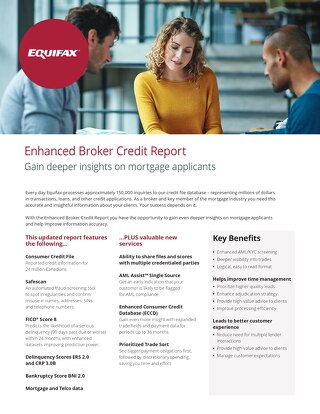 Enhanced Broker Credit Report