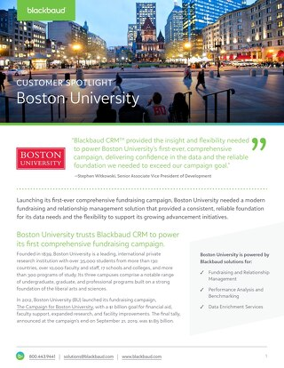 Boston University Customer Spotlight