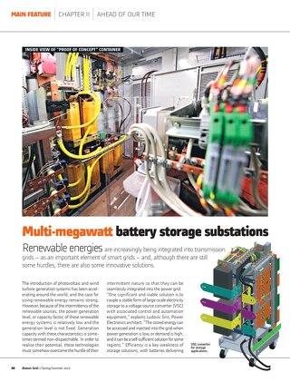 White Paper: Multi-megawatt battery storage substations
