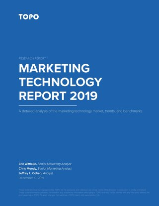 TOPO Marketing Technology Report 2019