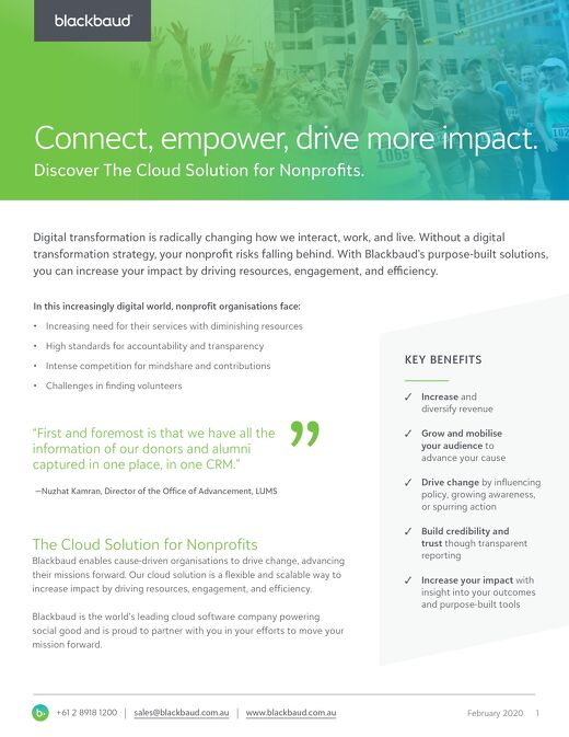 Discover The Cloud Solution for Nonprofits