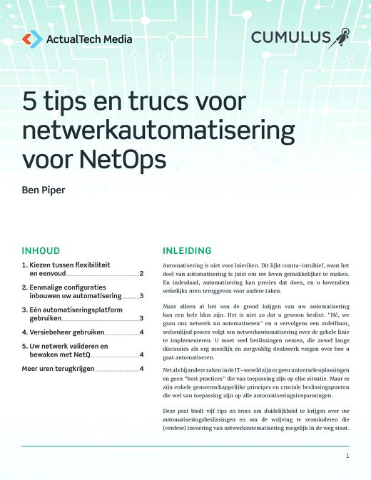 Cumulus_5 Network Automation Tips for NetOps_v1_NL