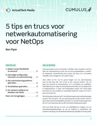 5 tips en trucs voor netwerkautomatisering voor NetOps