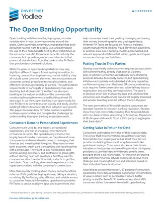 The Open Banking Opportunity