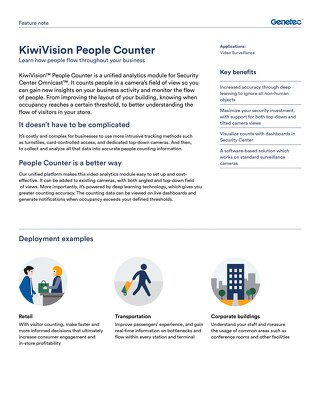 KiwiVision People Counter Feature Note