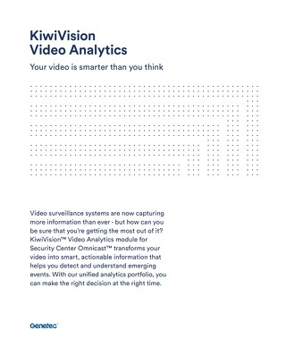 KiwiVision Video Analytics Brochure