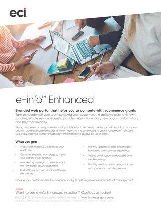e-info Enhanced Solution Flyer