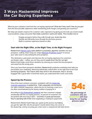 3 Ways Mastermind Improves the Customer Car Buying Experience