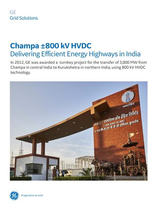 Case Study: Champa ±800 kV HVDC Delivering Efficient Energy Highways in India