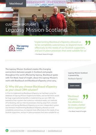 Leprosy Mission | eTapestry