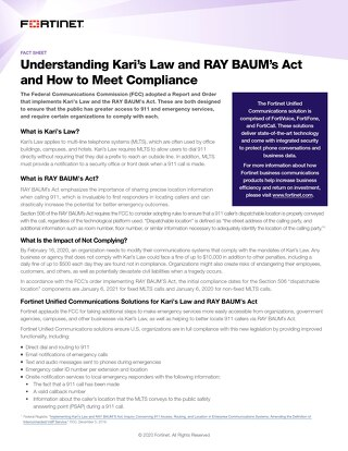Understanding Kari's Law and Ray Baum's Act and How to Meet Compliance
