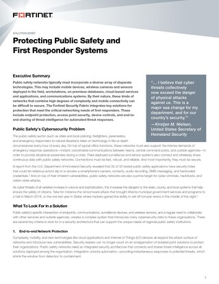 Protecting Public Safety and First Responder Systems