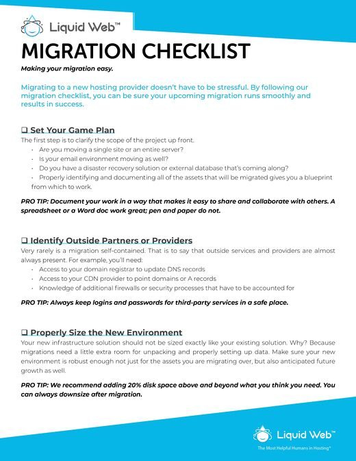 Your Complete Checklist for a Successful Server Migration