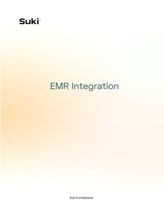 Suki EMR Integration Guide