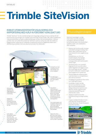 Trimble SiteVision Datasheet - Swedish