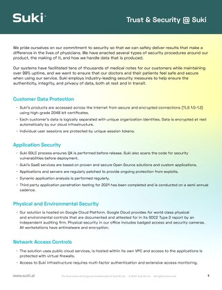Trust & Security @Suki