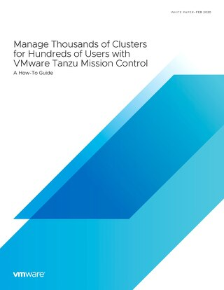 VMware Tanzu Mission Control How-To Guide