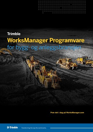 Trimble WorksManager Datasheet - Norwegian