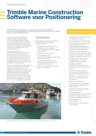 Trimble Marine Construction System for Positioning Datasheet - Dutch