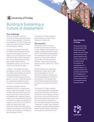 Building & Sustaining a Culture of Assessment