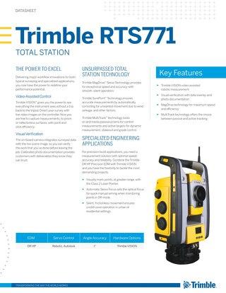 Trimble RTS771 Datasheet