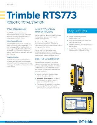 Trimble RTS773 - Datasheet