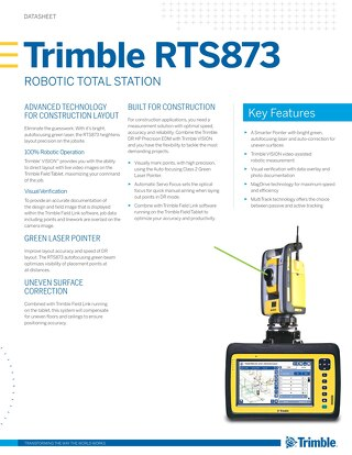 Trimble RTS873 - Datasheet