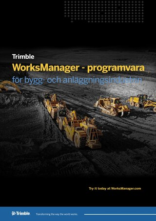 Trimble WorksManager Datasheet - Swedish