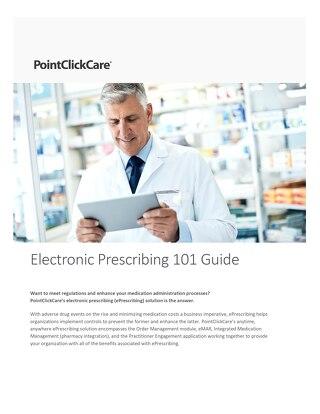 Electronic Prescribing 101
