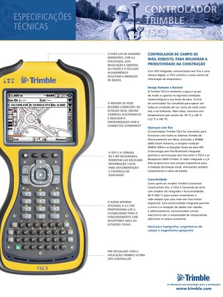 Trimble TSC3 Datasheet - Portuguese