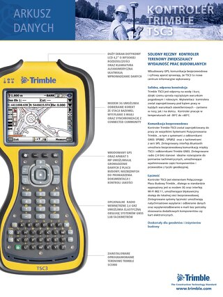 Trimble TSC3 Datasheet - Polish