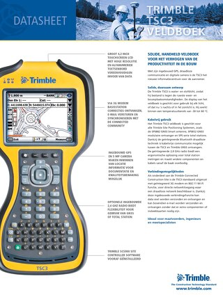 Trimble TSC3 Datasheet - Dutch