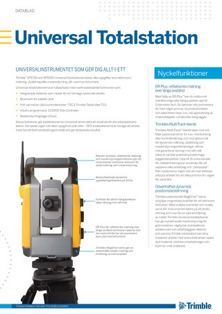 Trimble SPSX30 Datasheet - Swedish
