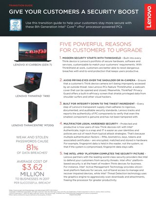 Lenovo and Intel® Give Your Customers a Security Boost