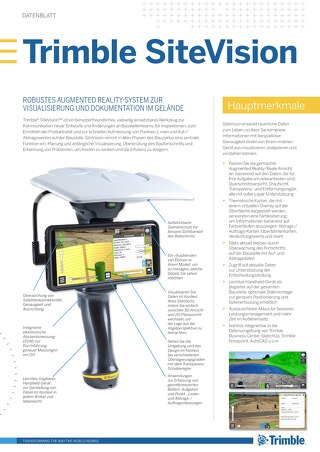 Trimble SiteVision Datasheet - German