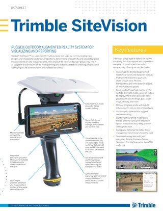 Trimble SiteVision Datasheet - English