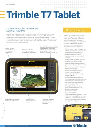 Trimble T7 Tablet Datasheet - Polish