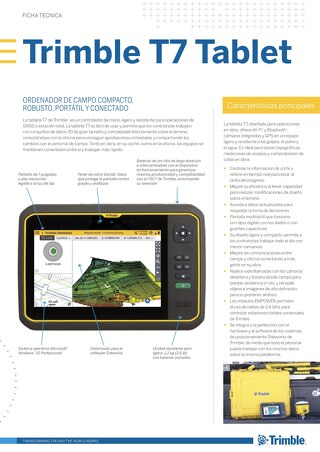 Trimble T7 Tablet Datasheet - Spanish